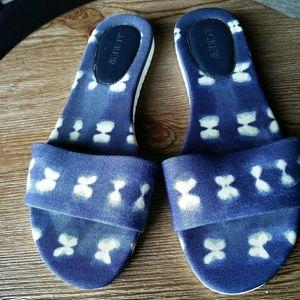 J Crew African denim sandals